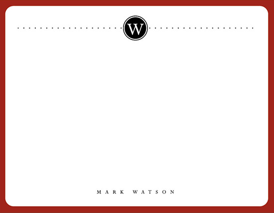 personal stationery - Sharp Classic by Rachel Olson