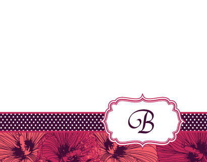 personal stationery - Floral Monogram by Vanessa Barber