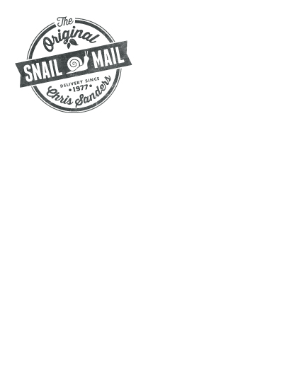 personal stationery - The Original Snail Mail by GeekInk Design