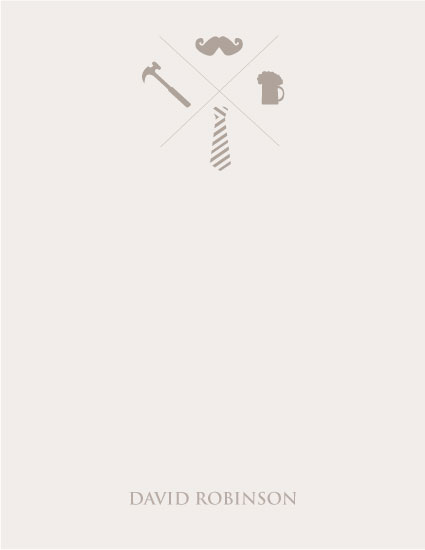 personal stationery - Stylish Manly Man by Karina Padilla-Robinson