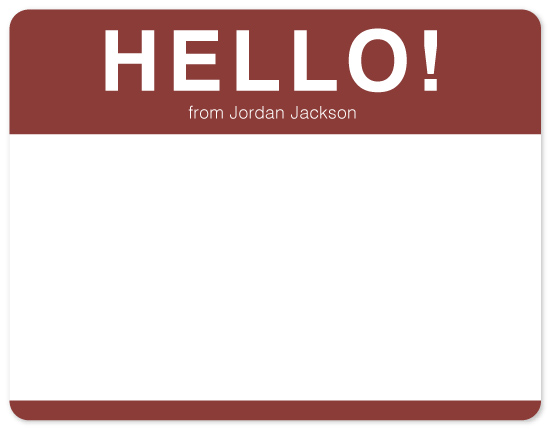 personal stationery - Name Tag Note by Amy Hunnel