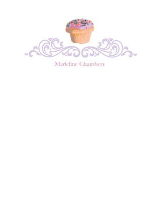 personal stationery - Fancy Cupcake by Blushing Princess