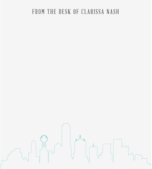 personal stationery - City Love- Dallas by Clarissa Nash