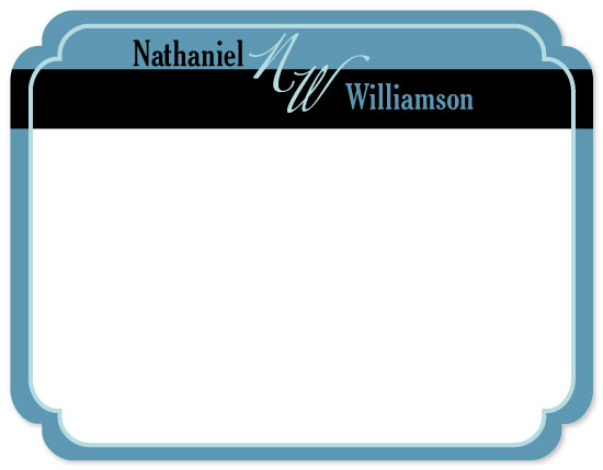 personal stationery - Black and Blue by Jennifer Wiley
