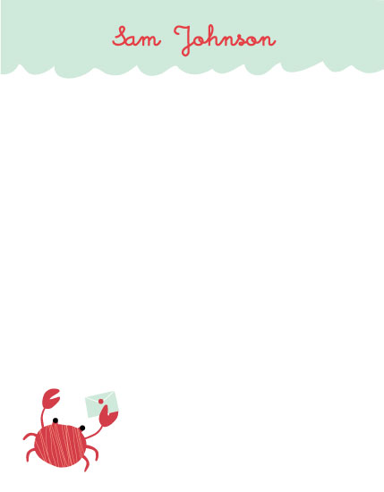 personal stationery - Mr Crab by maudie and ma