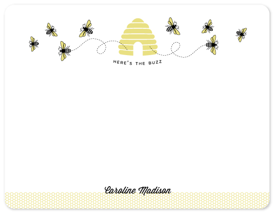 personal stationery - The Buzz by The Fine Letter Co.