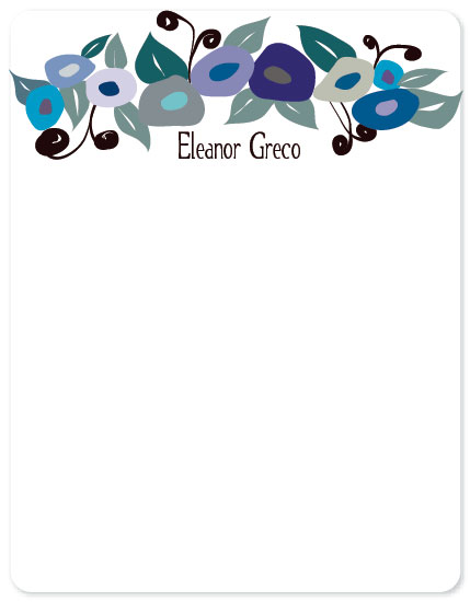 personal stationery - Modern Pansies by Leslie Phillips-Greco