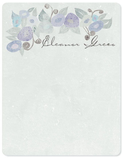 personal stationery - Vintage Pansies by Leslie Phillips-Greco