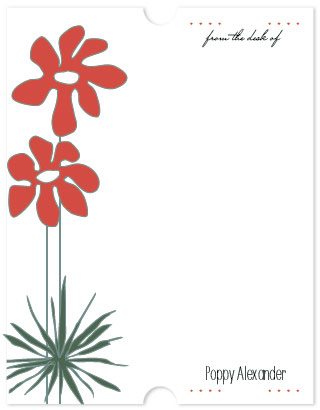 personal stationery - Poppies by Leslie Phillips-Greco