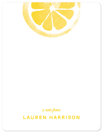 personal stationery - Lemony Fresh by Monica Tuazon