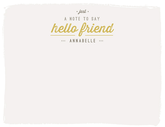 personal stationery - a little note by lena barakat
