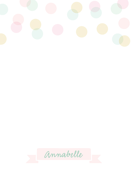 personal stationery - Pastel Dots by Haley