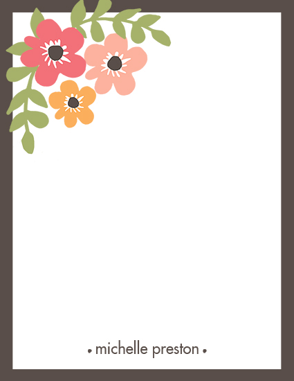 personal stationery - Bordered Blooms by Haley