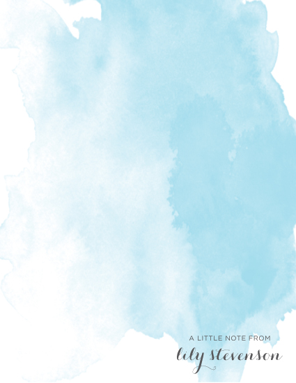 personal stationery - Blue Wash by Malena Southworth