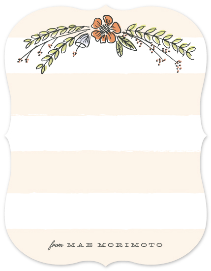personal stationery - Floral Bough by Sarah Curry