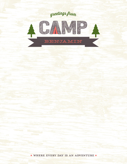 personal stationery - greetings from camp by Carol Fazio