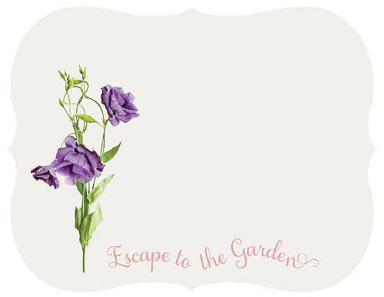 personal stationery - Escape to the Garden by Cathy