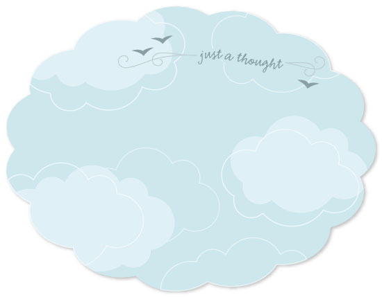 personal stationery - Head In The Clouds by Red Hare Creative