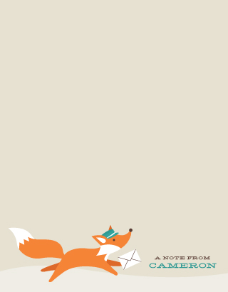 personal stationery - woodland post by Susan Asbill