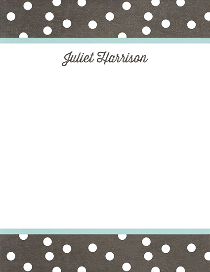 personal stationery - Dotty by Haley