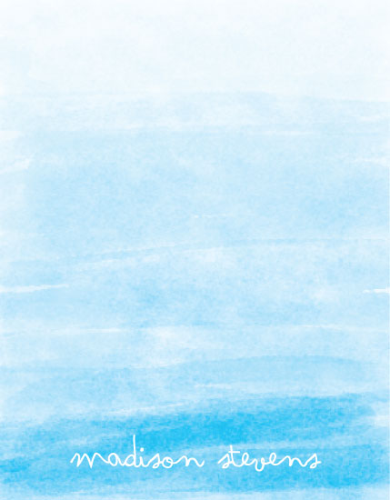 personal stationery - Ombre Watercolor by Stephanie Piontkowski