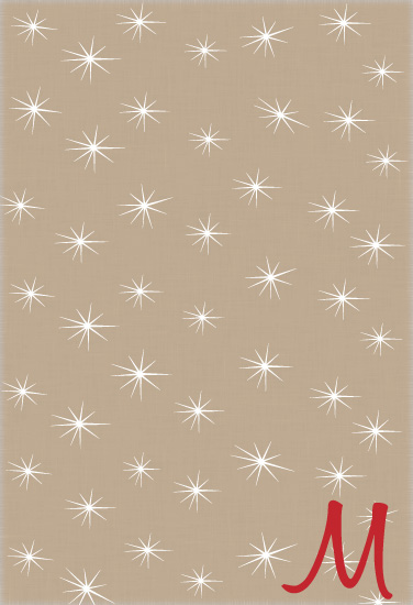 gift wrap - Snowflakes and Monograms by William Reid Stationery