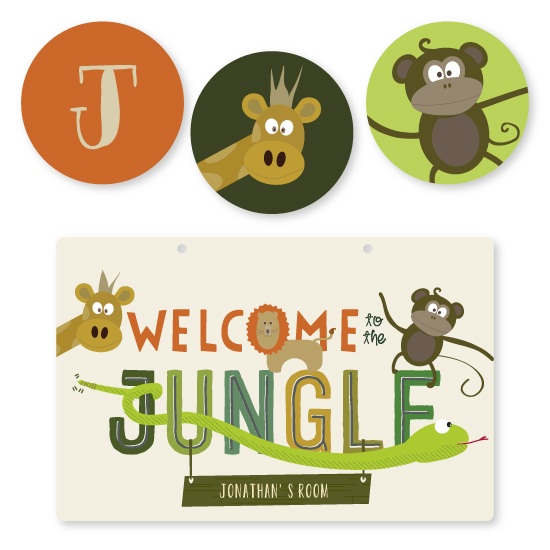 room decor - Welcome to the Jungle by Rebecca Bowen