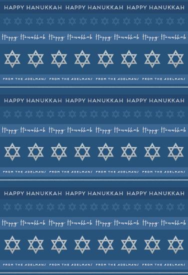 gift wrap - Hanukkah Stripes by Hooray Creative