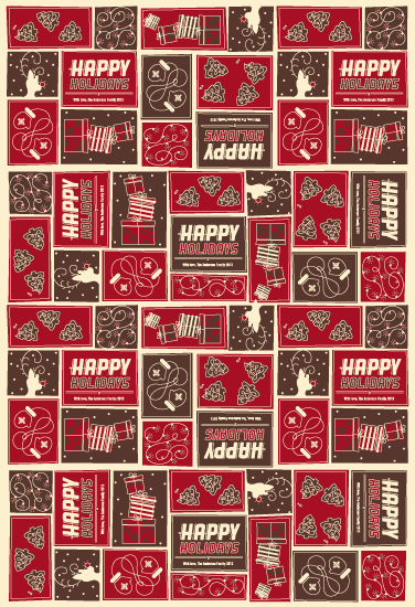 gift wrap - Red Red Rudolph by Gretchen Cobaugh