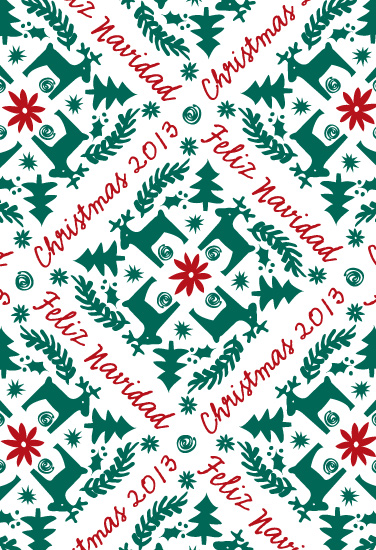 gift wrap - Feliz Navidad by Chris Griffith