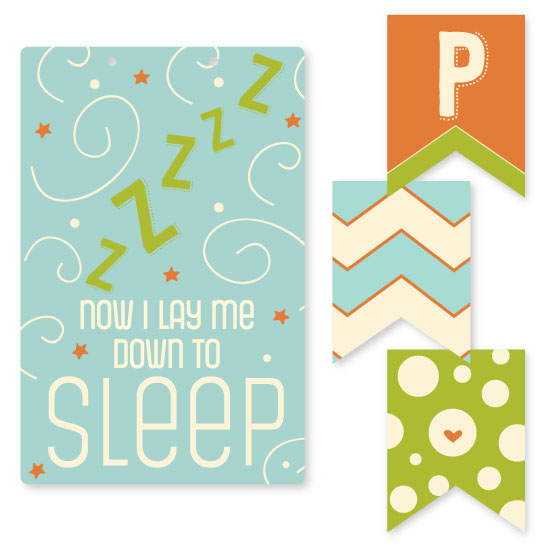 room decor - stars and swirls and sleepy zs by M.P. Leavitt