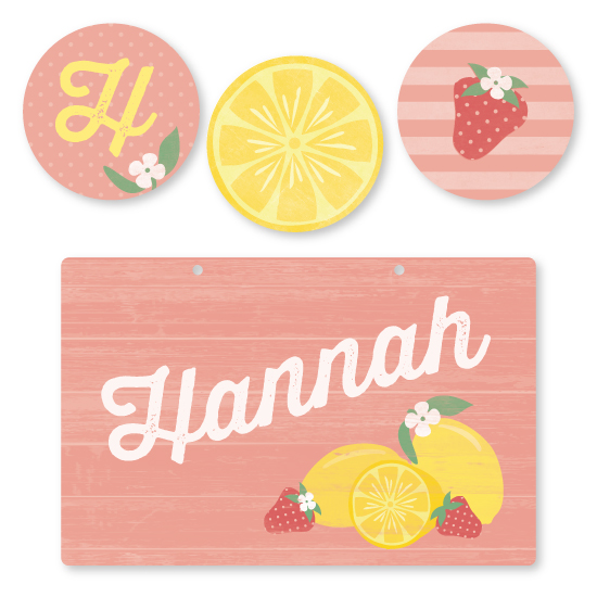room decor - Strawberry Lemonade by Anne Holmquist