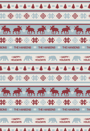 gift wrap - Fair Isle by Lindsay Kivi