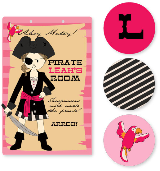 room decor - Pirate Girl by Stacey Montgomery