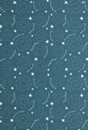 gift wrap - Oh Starry Night by Omar