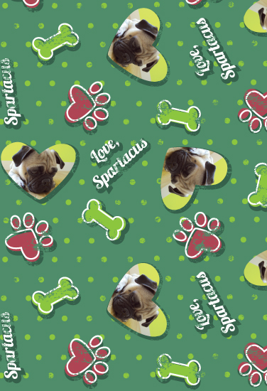 gift wrap - From the Doggie by Lindsay Kivi