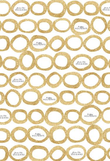 gift wrap - Glittering Rings by Erin Deegan
