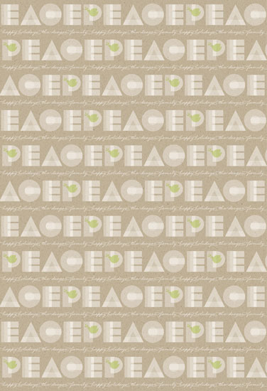 gift wrap - Peace Dove by Erin Deegan
