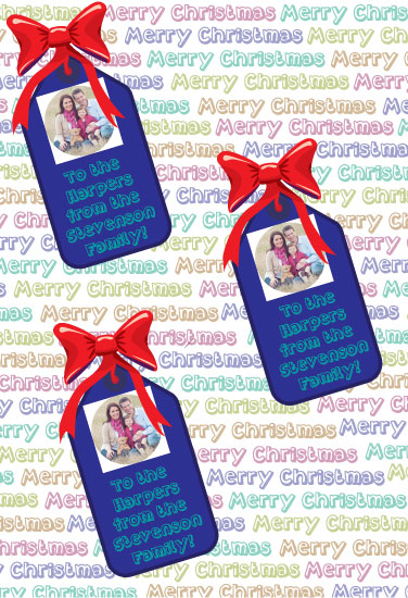 gift wrap - Christmas Photo Gift Tags by Isaiah Vela