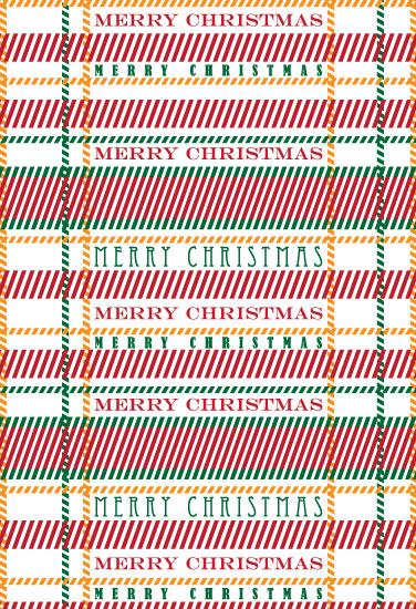 gift wrap - Christmas Plaid by Joel Rabina