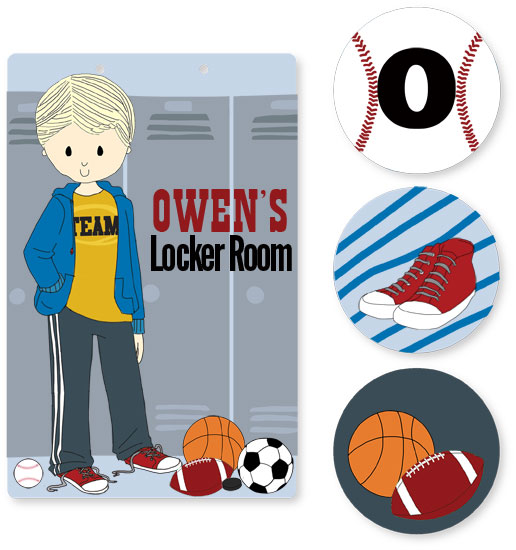 room decor - Locker Room by Stacey Montgomery