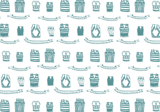 gift wrap - sweater vests by Julie Rose