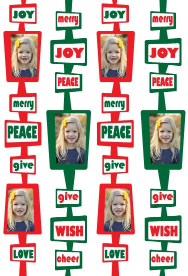gift wrap - Retro Christmas by Joel Rabina