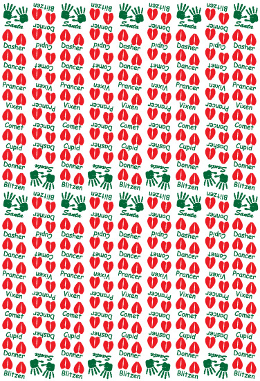 gift wrap - Christmas Prints by Joel Rabina