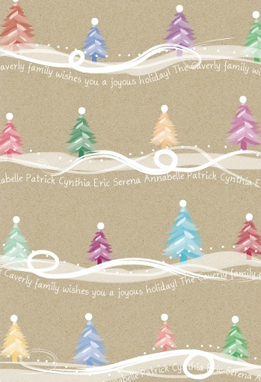 gift wrap - Family Trees by April