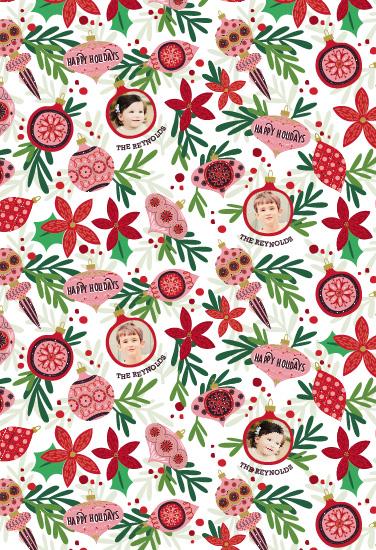 gift wrap - vintage ornaments by Aspacia Kusulas