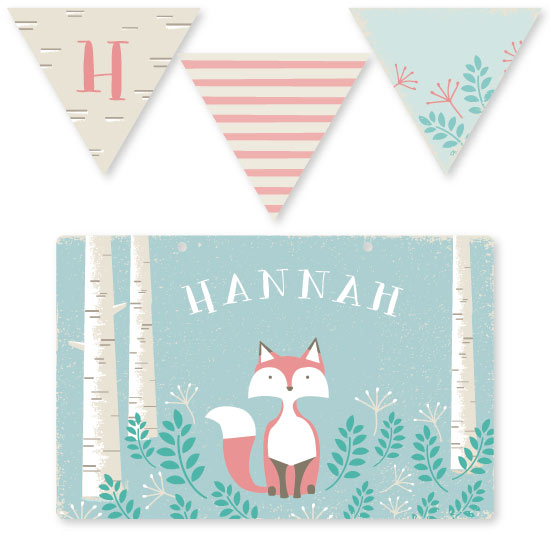room decor - Woodland Fox by Karidy Walker