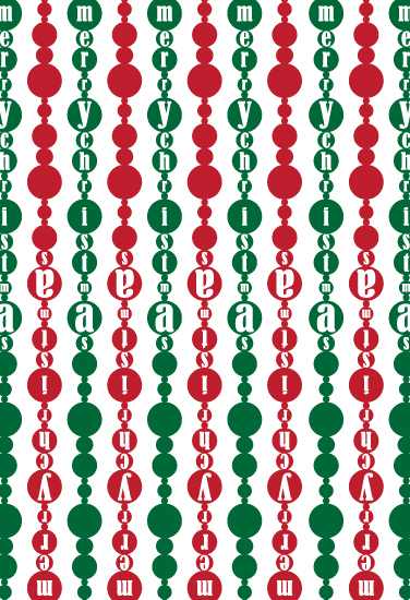 gift wrap - Christmas Garland by Joel Rabina
