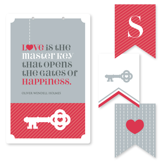 room decor - Key to Happiness by Red Hare Creative