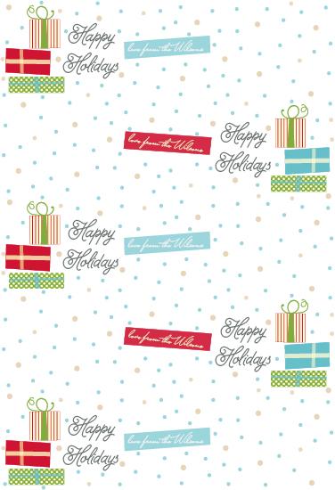 gift wrap - It's Snowing Gifts by Priyanka Nayar